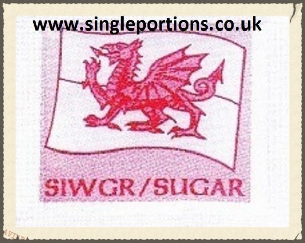 White Sugar - Wales - Welsh - Siwgr - Cymru - single portion sachets